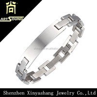New Stainless Steel Magnetic Silver Couples Mens Womens Link Chain Bracelet