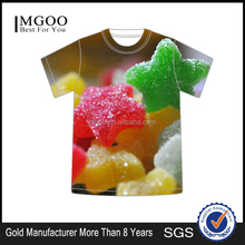 MGOO OEM Services Custom 3D Printed Women T-shirt Oversize Candy Iamge Design Men t-Shirts Wholesale