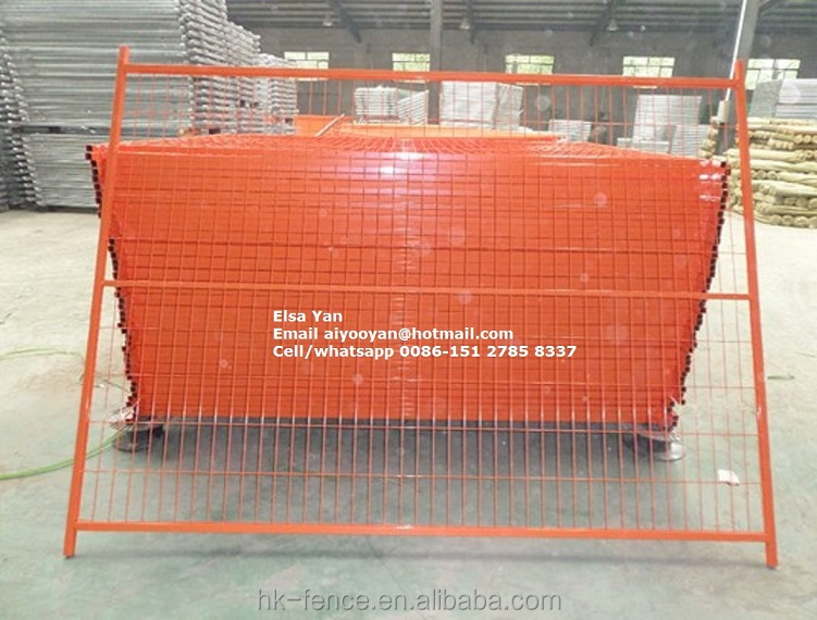 1.8x3m square pipe temporary fence,temporary fence feet/clamp galvanized/PVC coated hot sale in construction site in Canada 2016