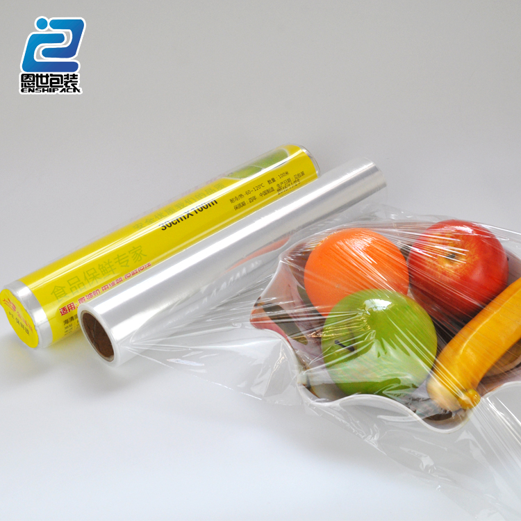 Alibaba China supplier pe transparent cling food wrap plastic foil
