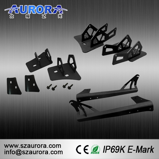 Factory Wholesale 20 Inch Single Row Bracket Stainless Steel Mounting bracket FRONT ROOF SIDE led light BRACKETS