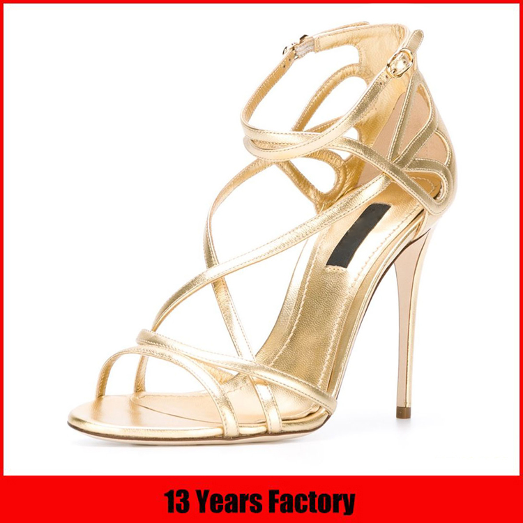 hottest design factory directly price famous name brand red color peep-toe ladies high heel fancy sandals