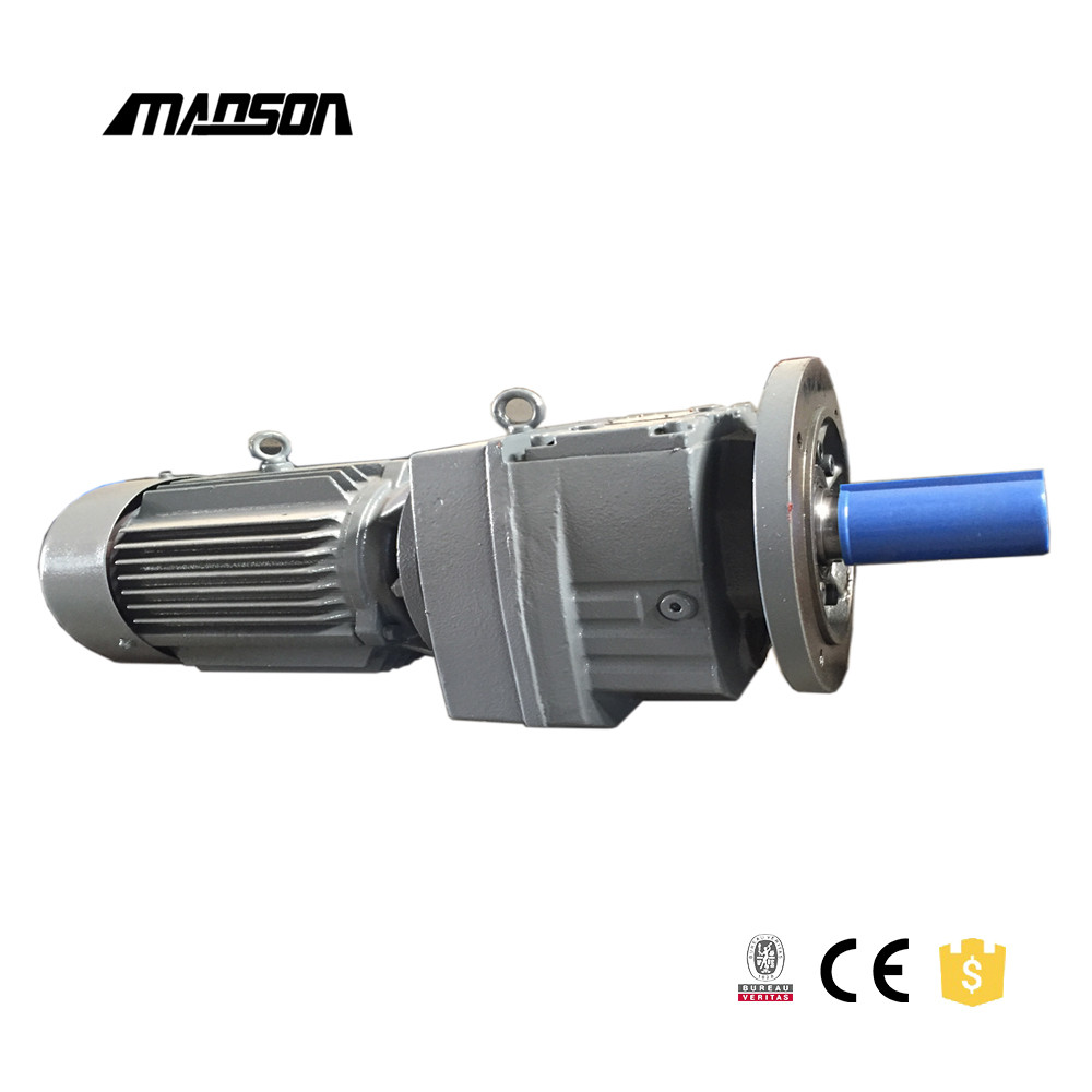 AC gear motor and gearbox with precision grind helical gear