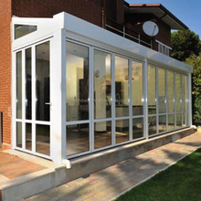 Manufacture hot sale design white aluminum glass conservatory, glass garden room
