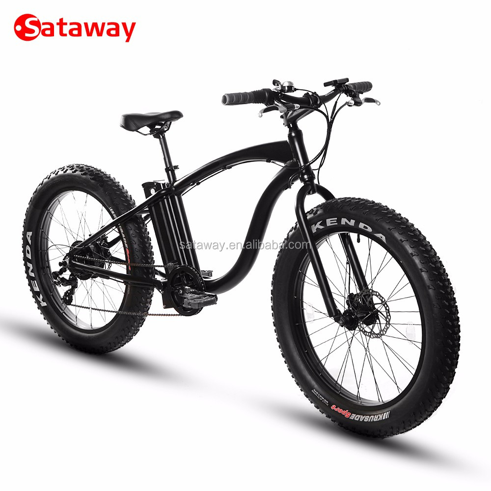 Sataway high quality fat tire beach cruiser electric bike bicycle