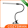 modern led table dimmable flexible arm usb folding clip desk lamp
