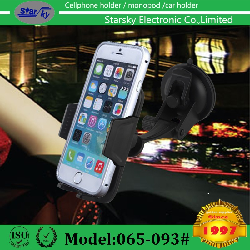 065-093# 2016 new mold Universal phone cradle windshield car holder ,360 degree turn around,windshield mount