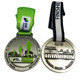 customized triathlon / soccer sport medal engraved / embossed zinc die cast medals and trophies