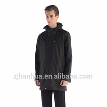 Breathable pu raincoat eco-friendly raincoat with BSCI certificate