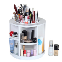 High Quality Large Round Shaped 360 Degree Rotating Plastic Makeup Organizer Storage