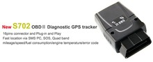 OBD GPS Vehicle Tracker Track instantly from smart phones l Tracking Current and Past GPS Tracker SEEWORLD S702
