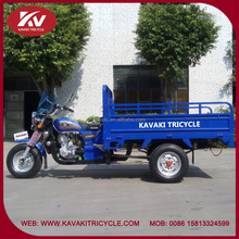 Made in China new design produce hot selling cheap blue color three wheel cargo motorcycle with windshield