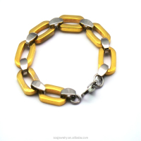 china factory 316l stainless steel jewelry gold plated exclusive bracelet cheap bulk wholesale