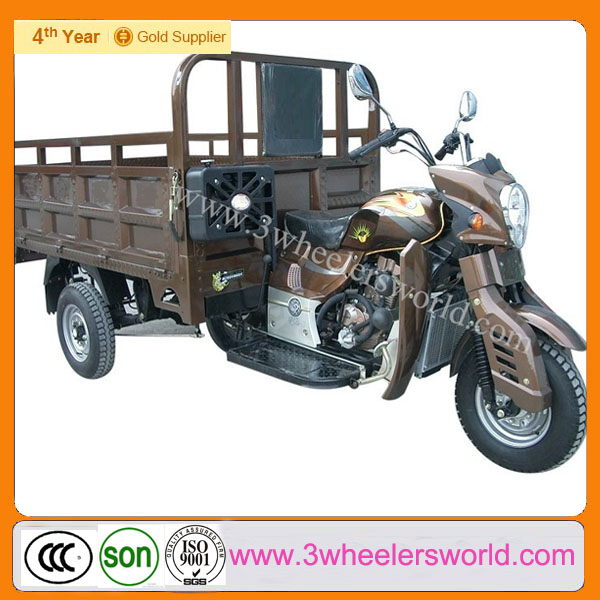 China Supplier Lifan brand 250cc engine used three wheel covered motorcycle sidecar /Cargo Tricycle For Sale