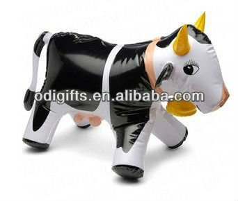 advertising inflatable cow