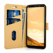 2017 newest mobile phone accessories for samsung galaxy s8 leather case with wallet design