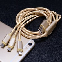Factory sell directly High quality Mobile Phone Charge Three In One Type C Cable
