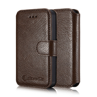 CaseMe Genuine Leather Wallet Case For iPhone 4s 4