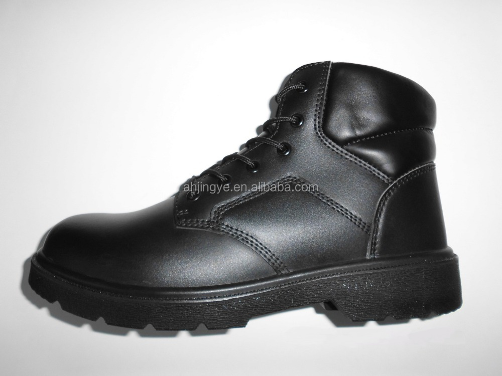 JY-078 high cut action leather work safety boots blue hammer safety shoes