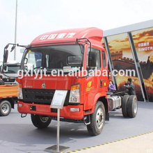 china HOWO 4x2 170HP light sign truck ,truck chassis design ZZ1127G3815D1