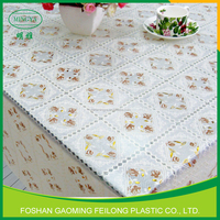 Multi-Color Pvc Tablecloth In Roll Pvc Lace Table Cloth China