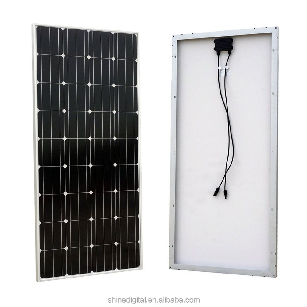 efficient monocrystalline pv model 100w mono solar panel