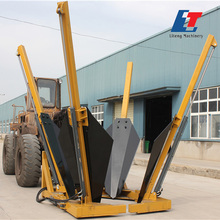 Farm tractor front end loader machine with tree transplanter