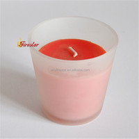 aromatherapy type frosted glass candle