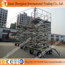 New model vertical two man lift table portable hydraulic scissor type lifter price