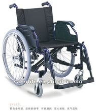 Flip-up inclined armrest wheelchair