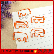 Decorative craft colors animal elephant design metal paper clips