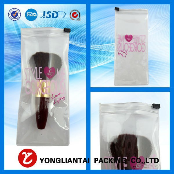 High quality pvc zipper bag for makeup brush packing