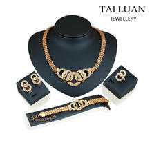 2017 Fashion jewelry set 24k gold jewellery dubai