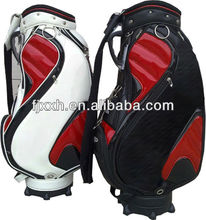 outdoor custom leather disc golf bag with wheel and golf bag parts 2016