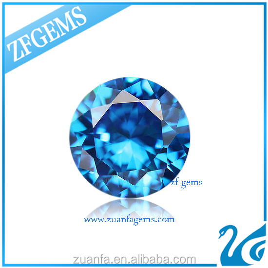 best 2mm synthetic aquamarine blue cubic zirconia cz loose stone
