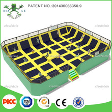 high jump trampoline bed with platform