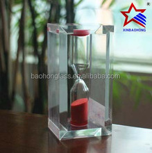 good quality transparent Acrylic frame sandglass for gift