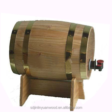 wooden wine/beer barrel , different size all can customize ,paulownia ,pine or oak
