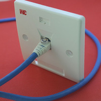 single Port Network Cable Faceplate