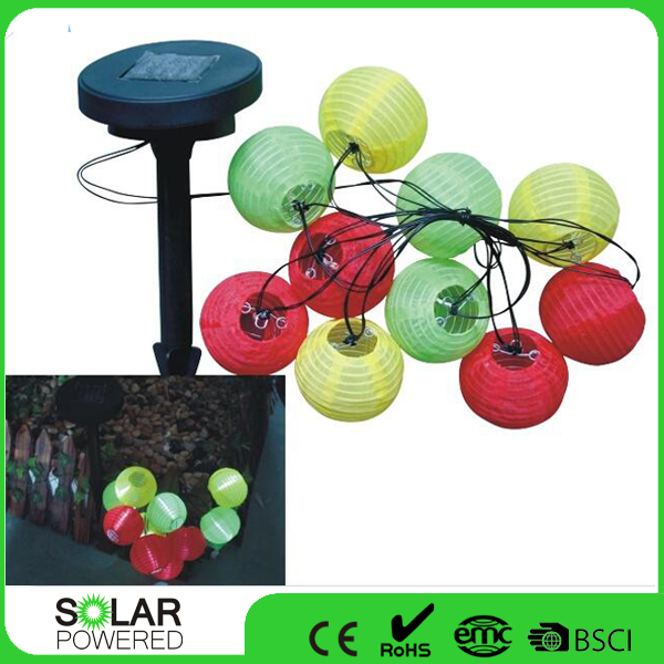 10 Led Solar Fairy Lantern Decorative String Light For Festival