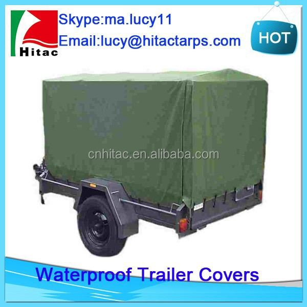Waterproof canvas cargo trailer covers