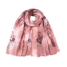 New design beauteous good character factory outlet printed plain winter scarf wrap