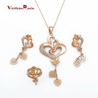 WesternRain Fashion Lovely Cute Real Gold Plated Necklace and Earring Jewelry Sets for Women Party,Wedding,Gift
