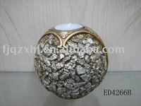STONE MODELLING RESIN BALL CANDLESTICK