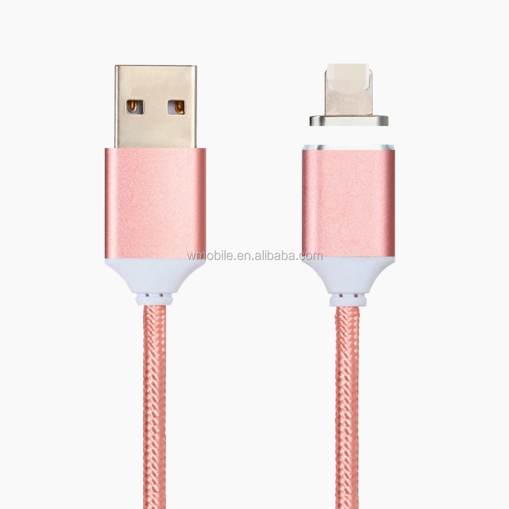wholesale Braided magnetic usb charging cable with led light