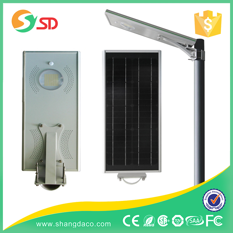 wall mount high lumen 15w integrated all in one solar led street light