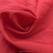 Cheap Wholesale Solid Dyed 100%Polyester Spun Fabric 45S Plain Woven for Shirt,Blouse,Lining