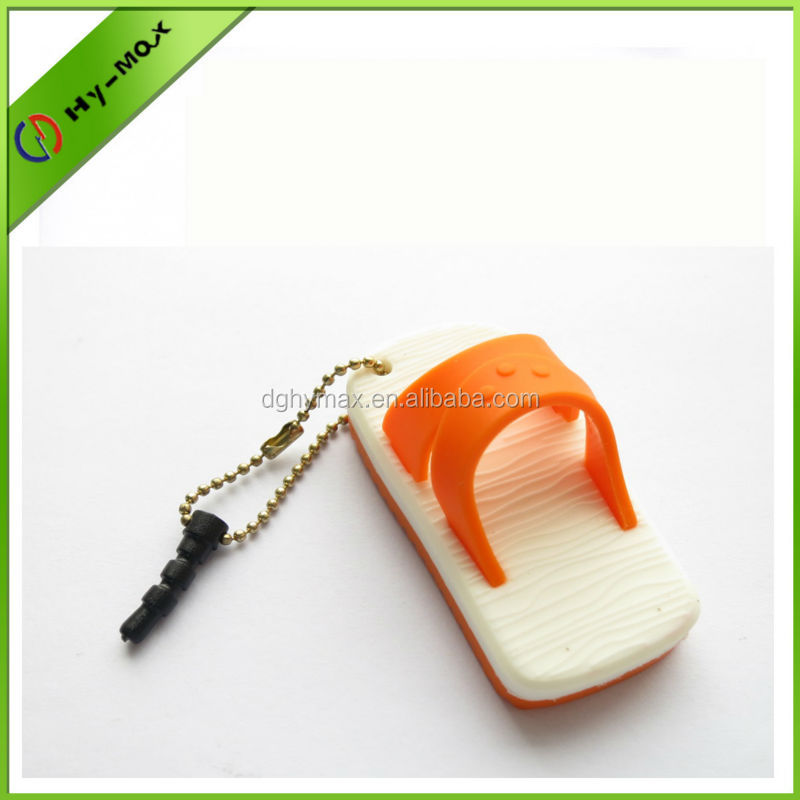 cute slipper shaped phone dust plug