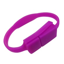 Stylish High Quality 16 GB Silicone Bracelet Wristband USB Flash Memory Drive