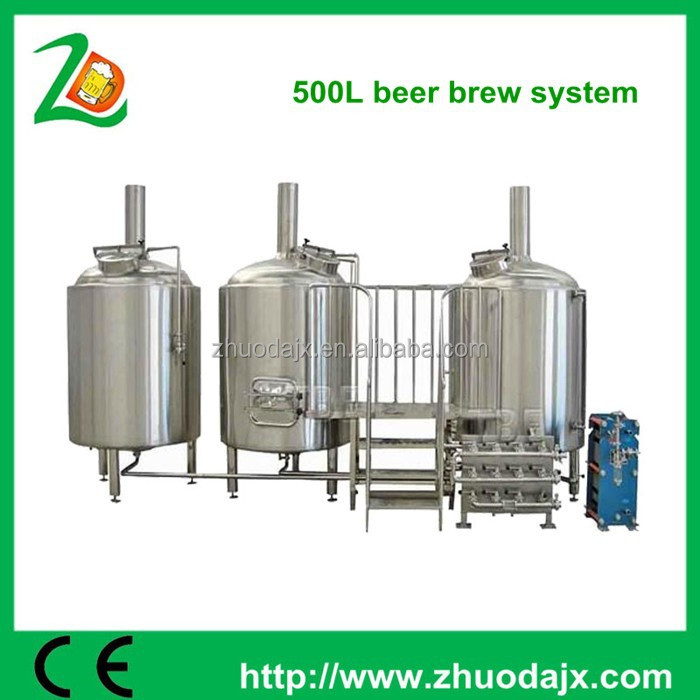 hot sale top quality best price 220v / 380v micro brewing equipment three vessels steam heated brewhouse for brewery